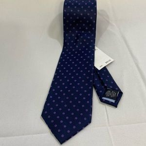 Tommy Hilfiger Purple and Blue Polka Dot Neck Tie